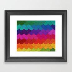 Rainbow Scallops Framed Art Print