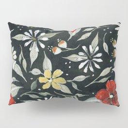 Southwest Style Oval Floral Gouache Painting Pillow Sham
