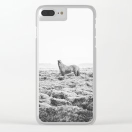 Horse Print with a Modern Style Clear iPhone Case
