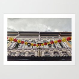 Colonial Facade, Chinatown Art Print