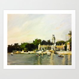 The Lake at Buen Retiro Park Art Print