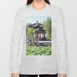 Ancient Imperial Garden of the Qing Dynasty | Ancien Jardin Impérial de la dynasty de Qings Long Sleeve T-shirt
