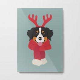 Bernese Mountain Christmas Dog Metal Print