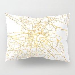 DUBLIN IRELAND CITY STREET MAP ART Pillow Sham