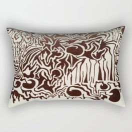 Fire in the City Ink Doodle Rectangular Pillow