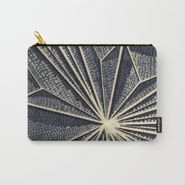 Geometric Pattern on Wood, Gold Lines, Rise Detail Carry-All Pouch
