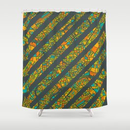 Arrows Map Shower Curtain