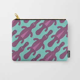 Platypus Convention - aqua and violet Carry-All Pouch