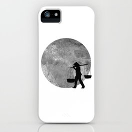 Vietnamese Women Street Vendors under the Moonlight iPhone Case