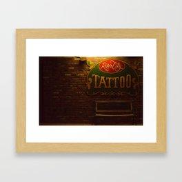 River City Tattoo Framed Art Print