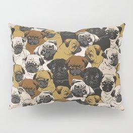Social Pugs Pillow Sham
