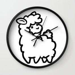 Squishy Llama Wall Clock