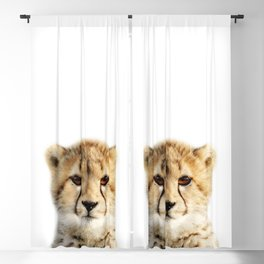 Baby Cheetah, Baby Animals Art Print By Synplus Blackout Curtain