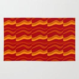 orange waves Rug