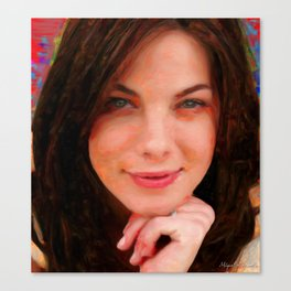 One sympathetic face Canvas Print