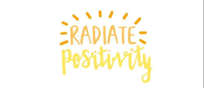 radiate positivity Kaffeebecher