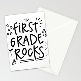 First Grade Rocks Stationery Cards