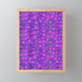 Candy Field, pink and violet Framed Mini Art Print