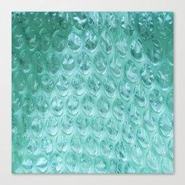 Aqua Bubble Wrap Canvas Print