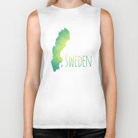 sweden Biker Tanks featuring Sweden by Stephanie Wittenburg