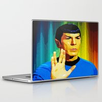 spock Laptop & iPad Skins featuring Spock by The Art Of Gem Starr
