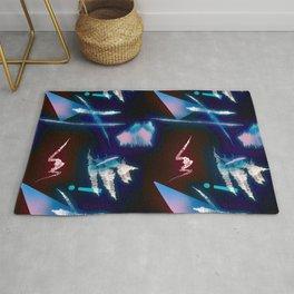 Postmodern Neon 80s Lights No.2 Rug