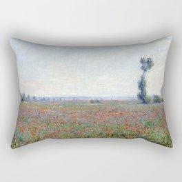 1881-Claude Monet-Poppy Field-58 x 79 Rectangular Pillow