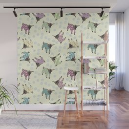 Pajama'd Baby Goats - Yellow Wall Mural
