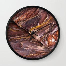 Rock patterns - Petra, Jordan Wall Clock