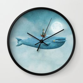 Whale Rider  Wall Clock
