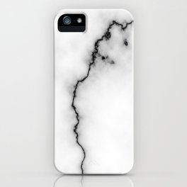 Black and white marble texture 9 iPhone Case