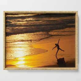 Modern Rio Dancing On the Sand Serving Tray