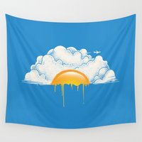 breakfast Wall Tapestries featuring Breakfast by carbine