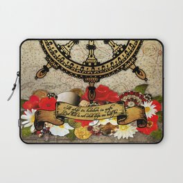 A Ship In Harbor Laptop Sleeve