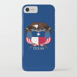Texas flag and eagle crest concept iPhone Case