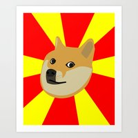 doge Art Prints featuring Doge by Subtle Tee