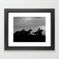 Homeward Bound Cowboy Framed Art Print