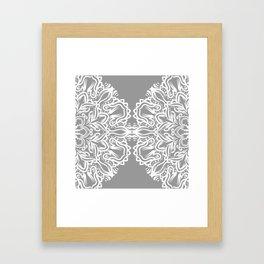 Gray Mandala Framed Art Print