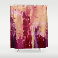 skyline Shower Curtains featuring Skyline by Stephanie Cole CREATIONS