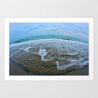 Fisheye Beach Art Print