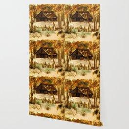 The Deserted Barn Wallpaper