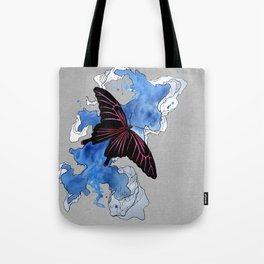 Butterfly II ink by carographic, Carolyn Mielke Tote Bag