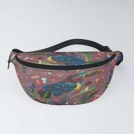 tropical birds with mushroom - BR Fanny Pack