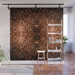 Beautiful Bronze Orange Brown glitters sparkles Wall Mural