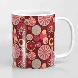 Circle Frenzy - Red Coffee Mug