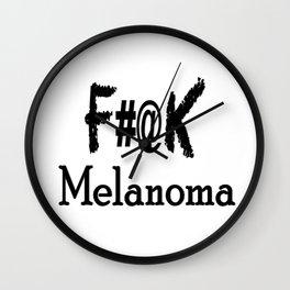 F#@K Melanoma Wall Clock