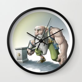 Old Crafter Wall Clock