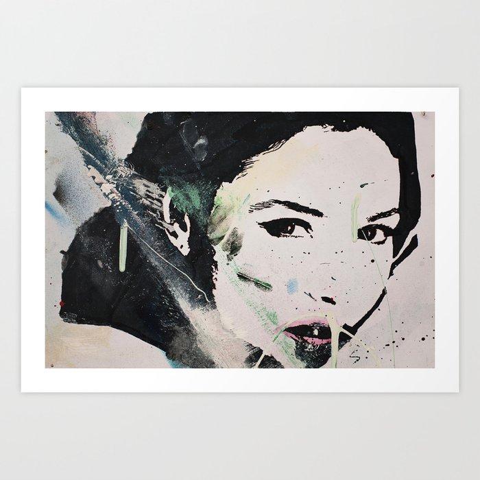Monika Bellucci Art Print