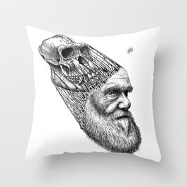 Homo Sapien Throw Pillow