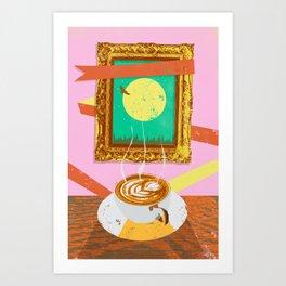 MOON COFFEE Art Print